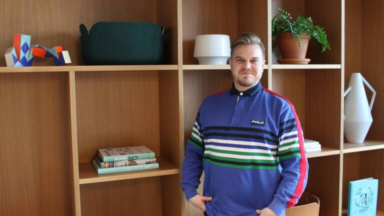 Biocode's new Sales Manager Markus Varkki at the office